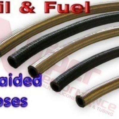 Gevlochten olie en brandstof slangen