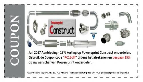 15% korting op alle Powersprint Construct onderdelen