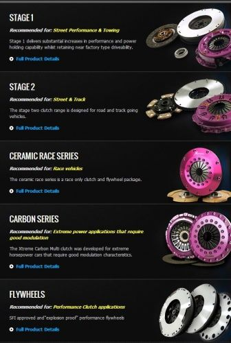 Xtreme Clutch Product Range