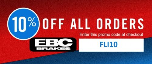 10% Discount on all EBC Parts