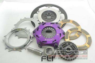 184mm Spring Ceramic Twin Plate Clutch Kit Incl Flywheel