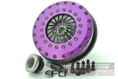 230mm Carbon Blade Twin Plate Clutch Kit Incl Flywheel