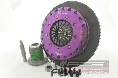 230mm Carbon Blade Twin Plate Clutch Kit Incl Flywheel & Concentric Slave Cilinder