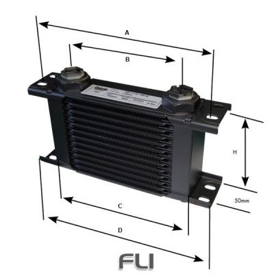 7 ROW OIL COOLER 22MM METRIC