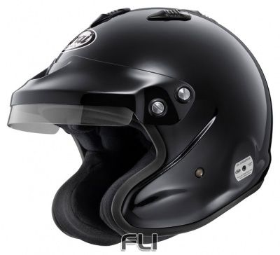 Arai GP-J3 Open Face Helmet Black - Maat L