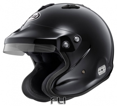 Arai GP-J3 Open Face Helmet Black - Maat M