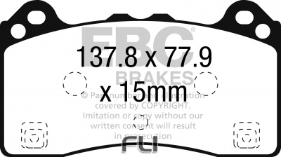 EBC DP82274RP1 Track and Race Brakepads