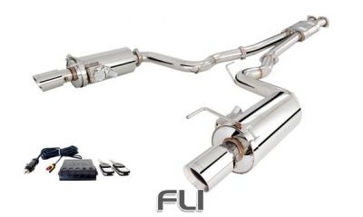 Ford Mustang GT 5.0 2015-On Twin 3 Inch Stainless Steel Cat-Back Exhaust System With Round Varex Mufflers