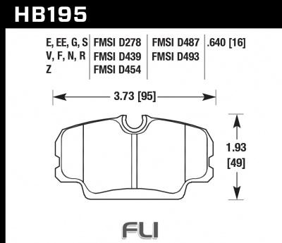 HB195S.640 - HT-10 - Motorsport Remblokken Hawk Performance