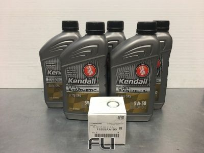 Kendall 5W50 Elite Pakket + Filter