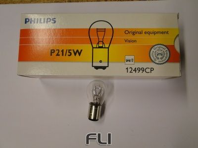 Philips Lamp P21/5W Wit